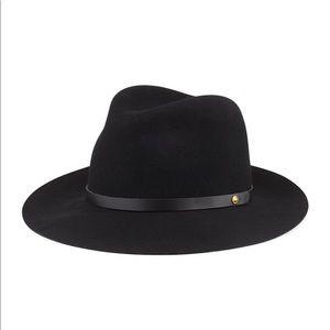 Rag & Bone Floppy Brim Wool Fedora Hat with Band